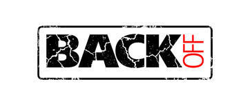 Back off sign Stock Images