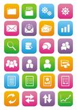 Back office flat style icon set Royalty Free Stock Photos