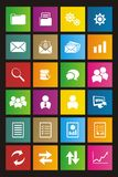 Back office metro style icon sets Royalty Free Stock Photography