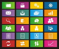 Back office metro style icons Royalty Free Stock Photography