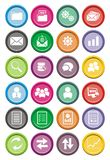 Back office round icon sets Royalty Free Stock Photos