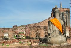 The back of the Buddha statue Royalty Free Stock Image