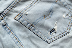 Back of old Jeans Stock Image