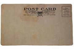 Back of Old Post Card Royalty Free Stock Images