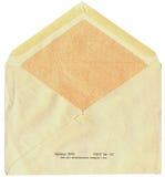 Back of old soviet mail envelope Stock Photo