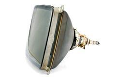 Back of old television cathode tube. Isolated on white royalty free stock photos