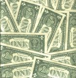 Back one dollar background Royalty Free Stock Photos