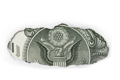 Back Of One Dollar Bill Stock Photography