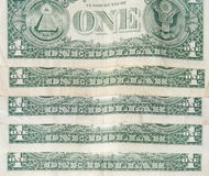 Back of one dollar bills Stock Photo