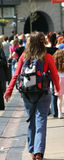 Back Packer. In Liverpool royalty free stock image