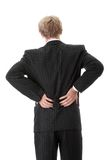 Back pain. Man with back pain isolated Royalty Free Stock Images