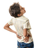 Back pain accident Stock Photography