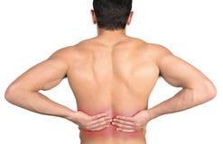Back pain Royalty Free Stock Image