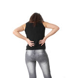 Back pain concept Royalty Free Stock Photo