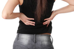 Back pain concept Stock Photography