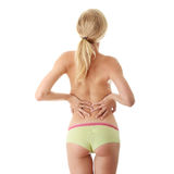 Back pain concept Stock Photos