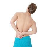 Back pain concept. Royalty Free Stock Photo