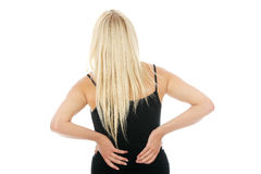 Back pain concept Royalty Free Stock Photos