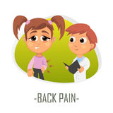 Back pain medical concept. Vector illustration. Stock Photo