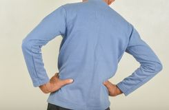 Back pain in men royalty free stock photo