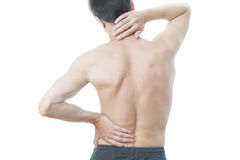 Back pain in men Stock Photo