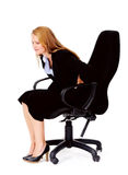 Back pain office chair Royalty Free Stock Photo