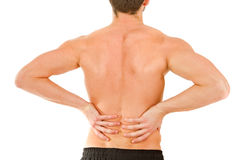 Back in pain Stock Photo