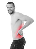 Back in pain Stock Photos