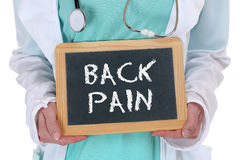 Back pain screening check-up ill illness healthy health doctor Stock Images