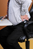 Back Pain While Working At The Office Stock Image
