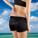 Back pain woman. Stock Images