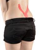 Back pain woman. Stock Photos