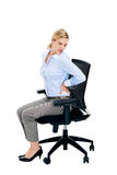 Back pain woman Stock Image