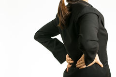Back pain woman Royalty Free Stock Photography