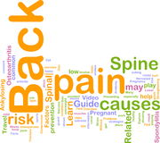 Back pain word cloud Royalty Free Stock Image