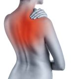 Back pains Royalty Free Stock Photography