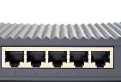 Back panel of the router Royalty Free Stock Photo