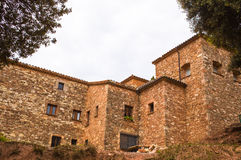 Back part of the Sanctuary of Puiggracios. The Sanctuary of Puiggracios is dedicated to the Virgin of Puiggracios which is the name of the peak of a height of royalty free stock photo