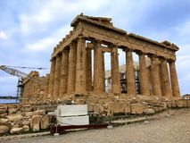 Back of Parthenon stock photography