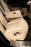 Back passenger seats in business car. Royalty Free Stock Image