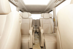 Back passenger seats in luxury MPV car Royalty Free Stock Images