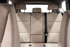 Back passenger seats in modern car. Royalty Free Stock Photos