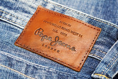 Back Patch Jeans by Pepe Jeans London Stock Images