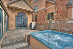 Back Patio and Hot Tub Stock Images
