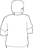 Back of Person Outline Stock Images