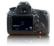 Back of photo camera. With clipping path on white background Stock Image