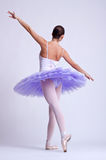 Back picture of a ballerina Royalty Free Stock Photos
