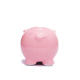 Back of a pink piggy bank. For pocket money Royalty Free Stock Image