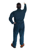 Back of plumber man. Royalty Free Stock Photography
