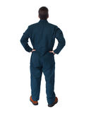 Back of plumber man. Royalty Free Stock Images